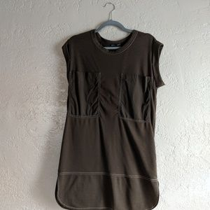Zara Olive Front Pocket Dress